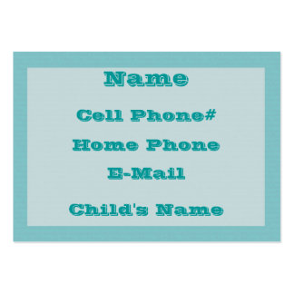 Daddy's Information Card Large Business Cards (Pack Of 100)