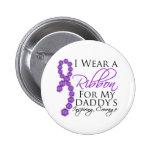 Daddy's Inspiring Courage - Pancreatic Cancer Pinback Button