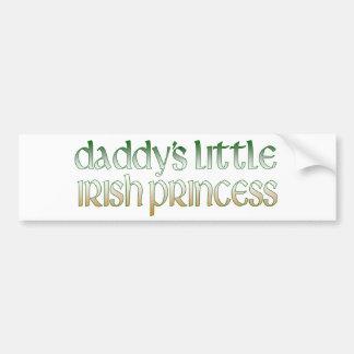 Daddy's Irish princess Bumper Sticker
