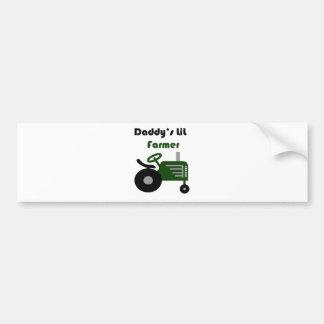 Daddy's Lil Farmer Car Bumper Sticker