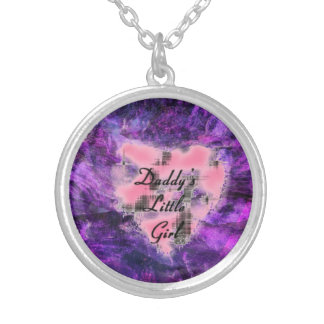 Daddy's Lil Girl Round Pendant Necklace