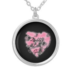 Daddy's Lil Girl Silver Plated Necklace at Zazzle