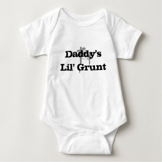 Daddy's Lil' Grunt-Basic White Creeper-BLACK T Shirts