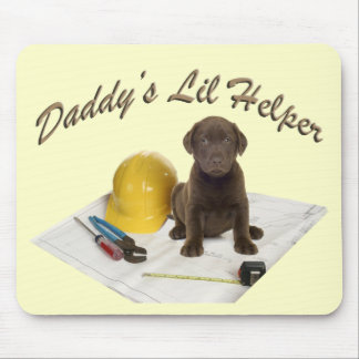 Daddy's Lil Helper Choc Lab Mouse Pad