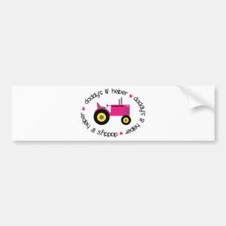 Daddy's Lil Helper Tractor Girl Bumper Sticker