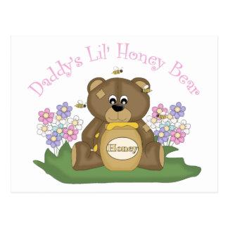 Daddy's Lil Honey Bear 3 Postcard