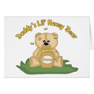 Daddy's Lil Honey Bear Card