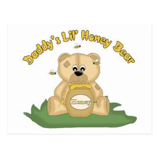 Daddy's Lil Honey Bear Postcard