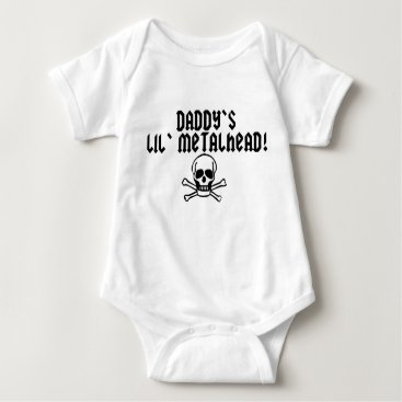 Toddler & Baby themed Daddy's Lil Metalhead Baby Bodysuit