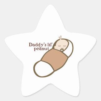 Daddy's Lil' Peanut Star Sticker
