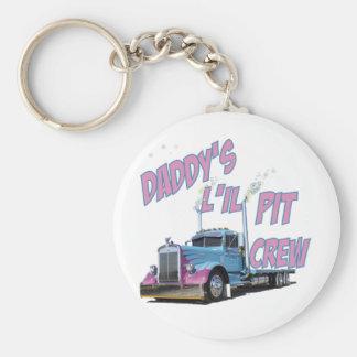 Daddy's L'il Pit Crew Basic Round Button Keychain