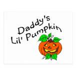 Daddys Lil Pumpkin Post Card