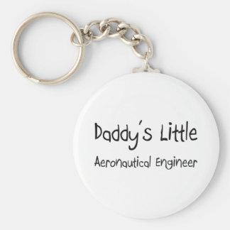 Daddy's Little Aeronautical Engineer Basic Round Button Keychain