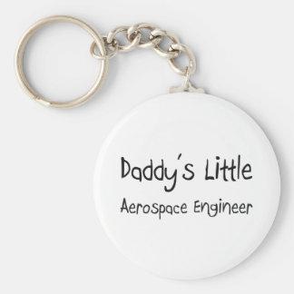 Daddy's Little Aerospace Engineer Basic Round Button Keychain