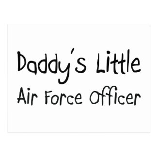 Daddy's Little Air Force Officer Post Card