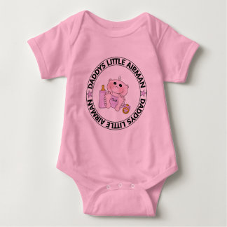 Daddys Little Airman (Girl) Baby Bodysuit