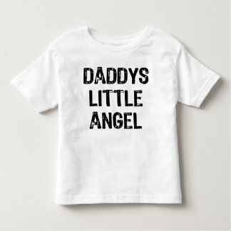 Daddy's Little Angel-Back Text With Back Wings Toddler T-shirt