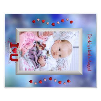 Daddy's little angel photo frame insert