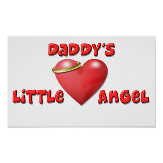Daddy's Little Angel Print
