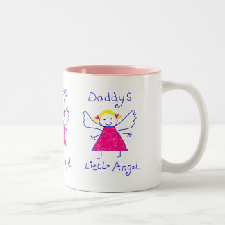 Daddy's Little Angel Two-Tone Coffee Mug