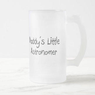 Daddy's Little Astronomer Frosted Glass Beer Mug