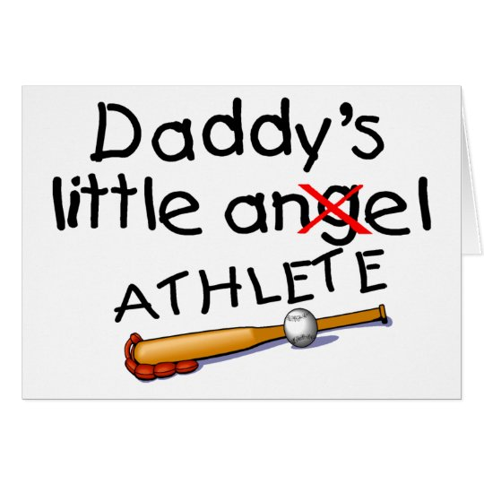Daddys Little Athlete Card