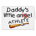 Daddys Little Athlete Cards