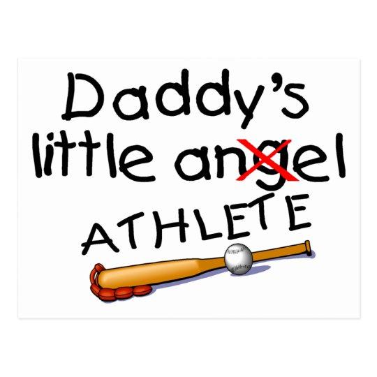 Daddy's Little Athlete Postcard