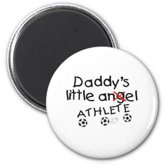 Daddys Little Athlete (Soccer) 2 Inch Round Magnet