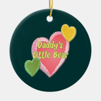Daddy's Little Bear Ceramic Ornament