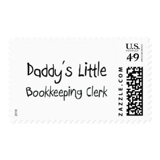 Daddy's Little Bookkeeping Clerk Postage Stamp