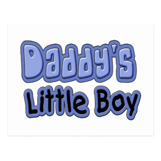 Daddy's Little Boy Postcard