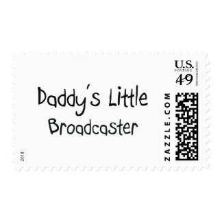 Daddy's Little Broadcaster Postage Stamps