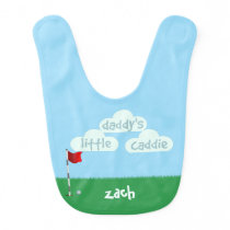 Daddys Little Caddie Cute Little Golfer Baby Bib