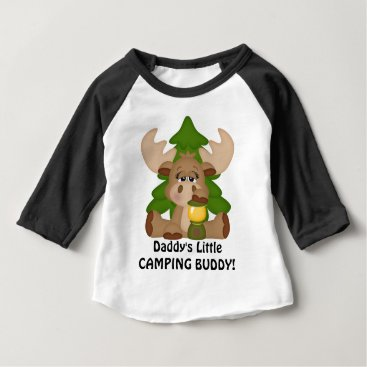 doodlesgifts Daddy's little camping buddy baby boy t-shirt