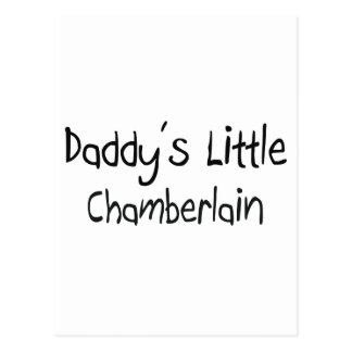 Daddy's Little Chamberlain Postcard