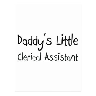 Daddy's Little Clerical Assistant Post Cards