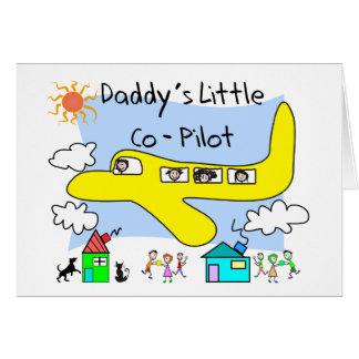 Daddy's Little Co-Pilot Kids T-Shirts Card