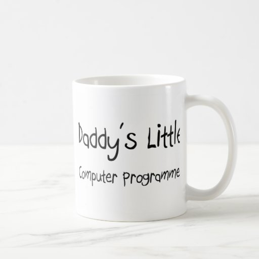 Daddy's Little Computer Programmer Classic White Coffee Mug