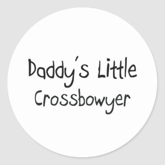 Daddy's Little Crossbowyer Classic Round Sticker