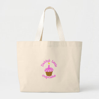 Daddy's Little Cupcake Large Tote Bag