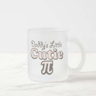 Daddy's Little Cutie Pi Frosted Glass Frosted Glass Coffee Mug