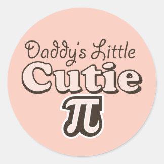 Daddy's Little Cutie Pi Stickers