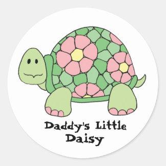 Daddy's Little Daisy Round Sticker