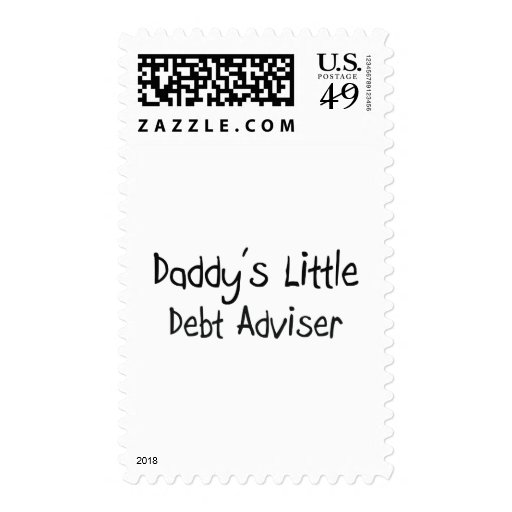 Daddy's Little Debt Adviser Postage Stamps