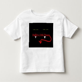 Daddy's little demon toddler t-shirt