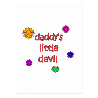 Daddy's Little Devil Postcard