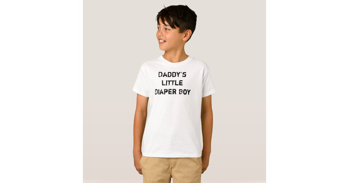 Daddy's Little Diaper Boy T-Shirt | Zazzle.com