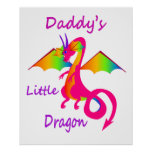 Daddy's Little Dragon Print