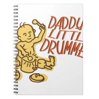 Daddys Little Drummer Spiral Notebook